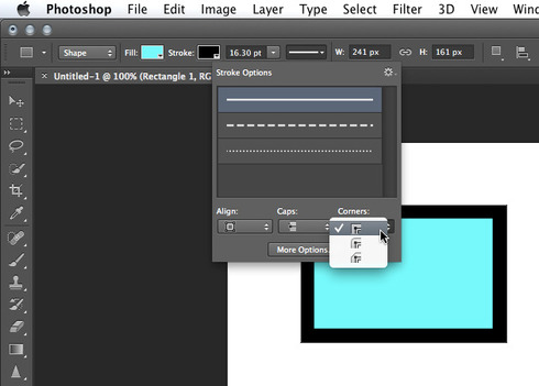 Photoshop: Layer Styles: Ability to make \'outside\' Stroke corners ...