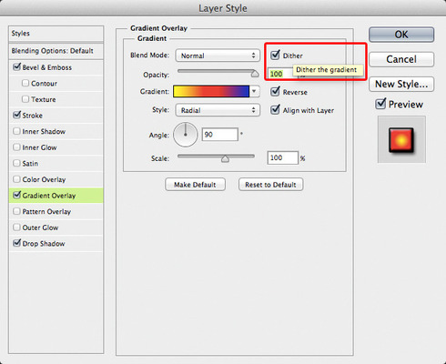 Photoshop: Ability to add Noise in Gradient Overlays