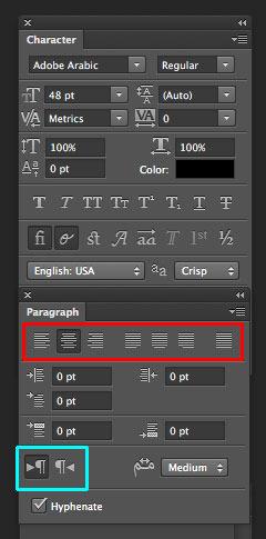 راست چین نویسی در Adobe inDesign 2017