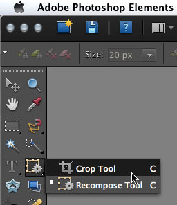 Elements: Crop tool missing from tool bar | Photoshop Family