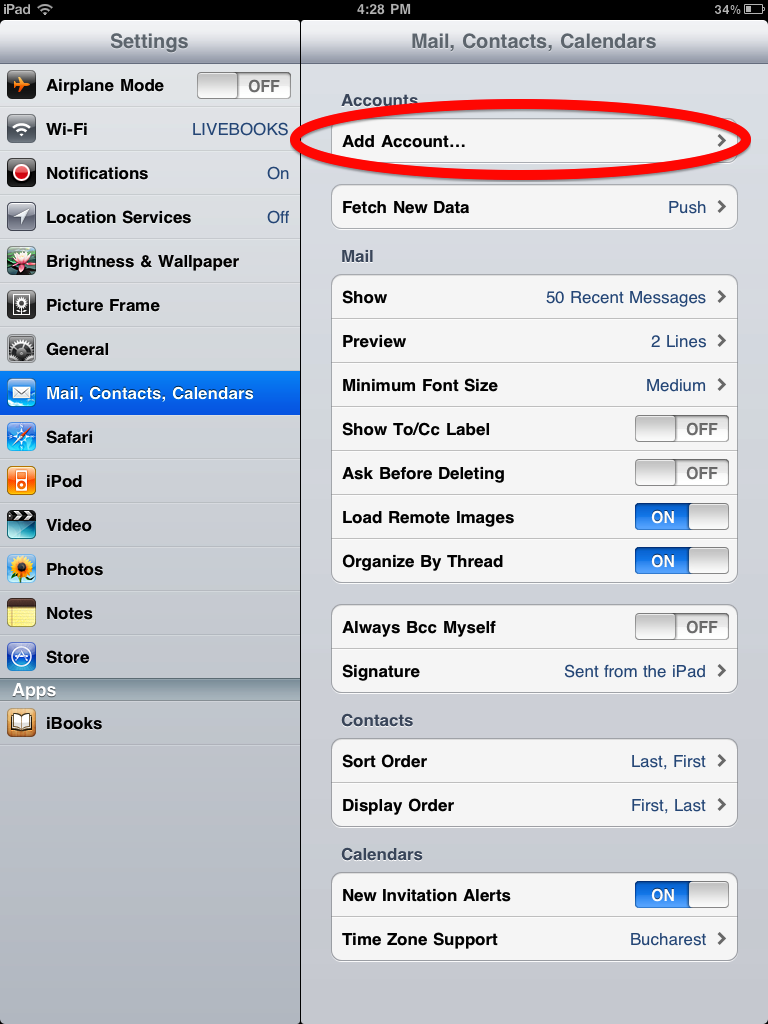 how to delete mail account on ipad