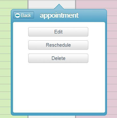 How can i reschedule an appointment salonlite for Salon lite