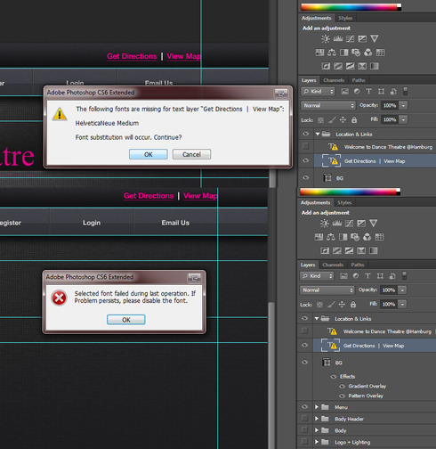 Photoshop cs6 font substitution not working in all cases now it just gives me the error after clicking ok i searched around and it seems to be a unique problem with little to no information available ccuart Choice Image