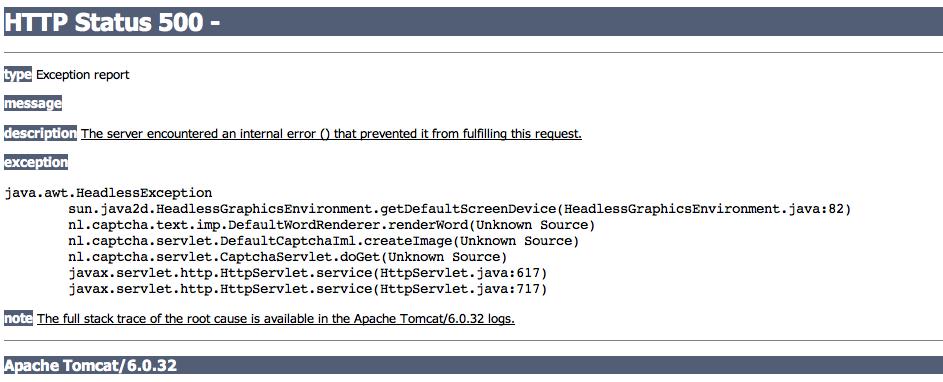 HTTP 500 Internal Server Error on Captcha Field. - Forum - Rollbase