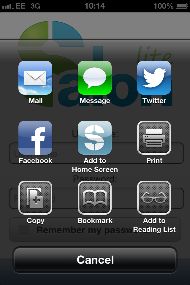 How do i add salonlite to my iphone home screen salonlite for Salon lite