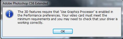 nvidia opengl driver error photoshop