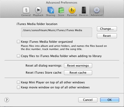 Consolidating itunes library files