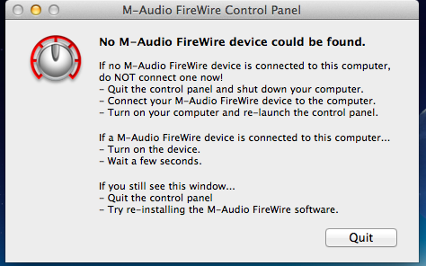 Mac os 10.8.2 with M-Audio Ozonic. Driver not found.