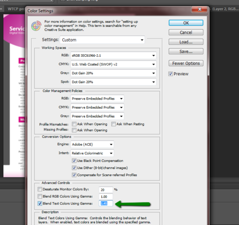 Photoshop: CS6 pdf export - text rendering problems