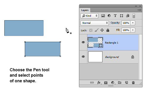 Photoshop: Transformation of vector shapes in Photoshop CS6