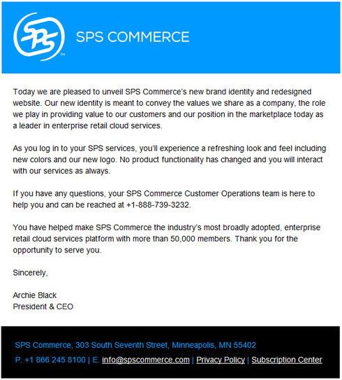 a new look for sps commerce