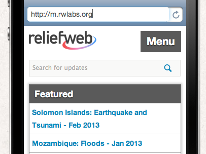 ReliefWeb Mobile