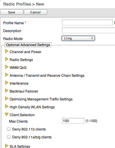 How many concurrent clients does Hive AP 121 support in VoIP context